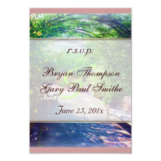 Rosy Bower Wedding RSVP Card