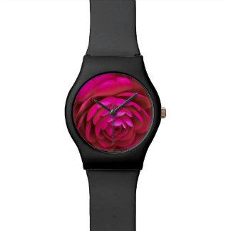 Rosy Camellia Flower Watch