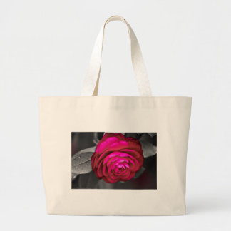 Rosy Camellia Large Tote Bag