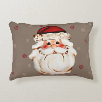 Rosy Cheeked Santa Claus Face Accent Pillow