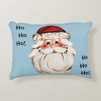 Rosy Cheeked Santa Claus Face Decorative Pillow
