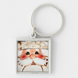 Rosy Cheeked Santa Claus Face Keychains