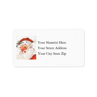 Santa claus shipping address amp return address labels zazzle