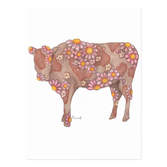 Rosy Cow Postcard