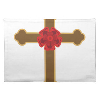 Rosy Cross Cloth Place Mat