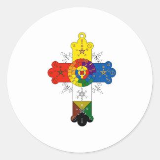 Rosy Cross Lamen Classic Round Sticker