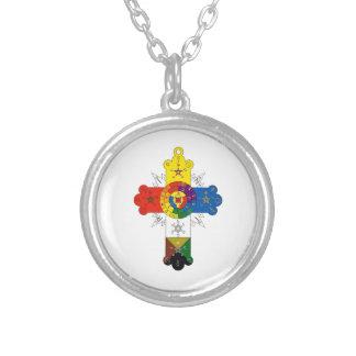 Rosy Cross Lamen Round Pendant Necklace
