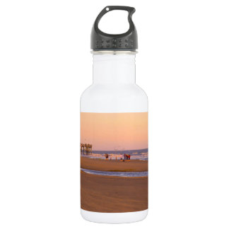 Rosy Evening at Isle of Palms Stainless Steel Water Bottle