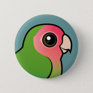 Rosy-faced Lovebird Pinback Button