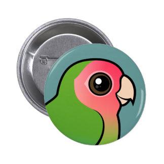 Rosy-faced Lovebird Pinback Button
