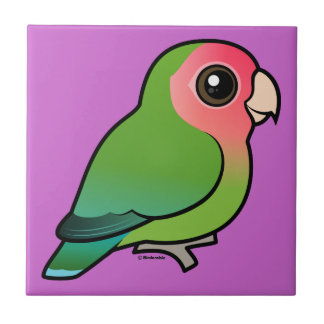 Rosy-faced Lovebird Ceramic Tiles