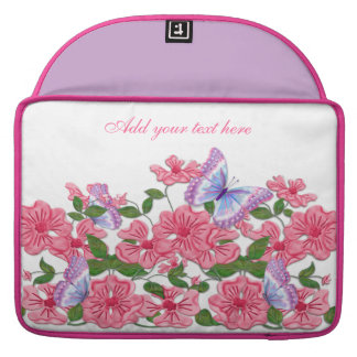 Rosy Floral and Butterflies MacBook Pro Sleeves