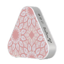 Rosy floral mandala geometric pattern speaker