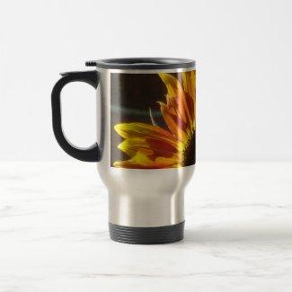 Rosy Gold Sunflower mug