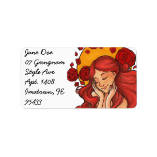Rosy Halo Customizable Address Labels