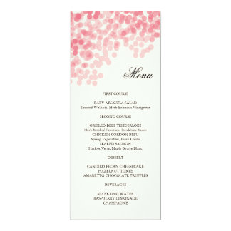 Rosy Light Shower Menu Card