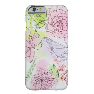 Rosy mixed floral iPhone case watercolor