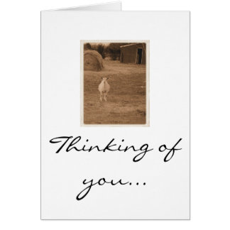 Rosy Note, Thinking of you... Stationery Note Card