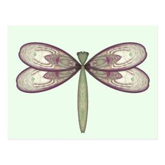 Rosy Nouveau Dragonfly Postcard