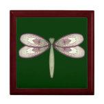 Rosy Nouveau Dragonfly Trinket Box