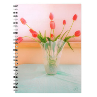 Rosy Pink Dutch Tulips Notebook