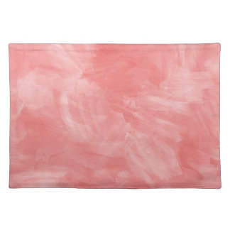 Rosy Pink Retro Watercolor Texture Cloth Placemat