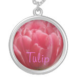 Rosy Pink Tulip Custom Necklace