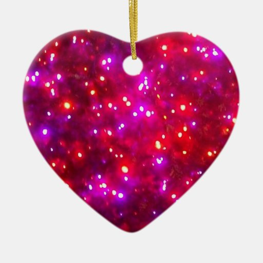 'Rosy Sparkle' Heart Ornament