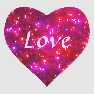 'Rosy Sparkle' Love Stickers