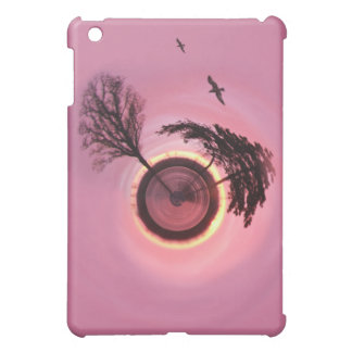 Rosy Sunset Planet iPad Mini Cover