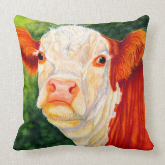 Rosy The Happy Hereford Heifer Cow Pillow