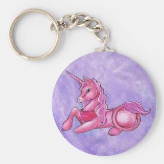 Rosy Unicorn Keychain