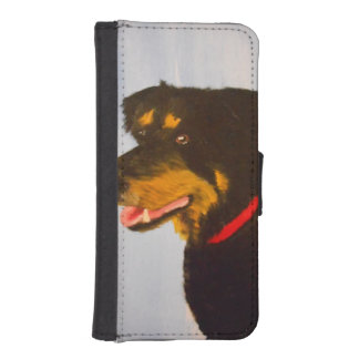 Rot,collie mix iphone wallet phone wallet cases