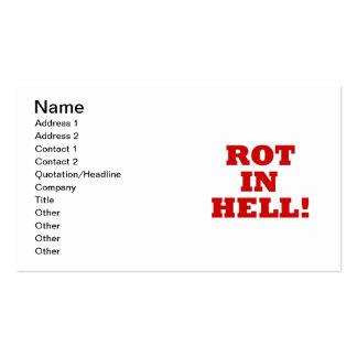 Rot In Hell Double-Sided Standard Business Cards (Pack Of 100)