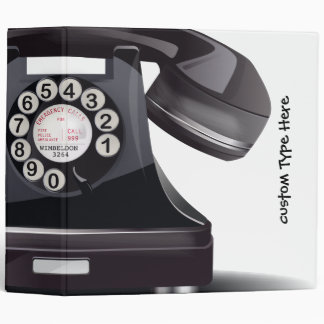 Rotary Dial Telephone 3 Ring Binder