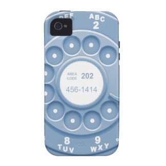 Rotary Faux -blu iPhone 4/4S Cases