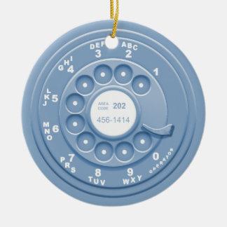 Rotary Faux -blu Ceramic Ornament