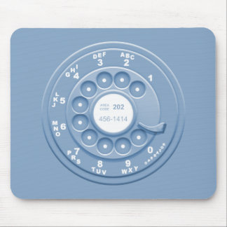 Rotary Faux -blu Mouse Pad