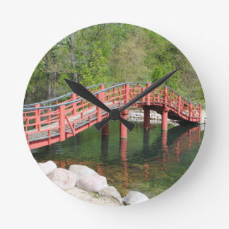 Rotary Garden Bridge Wall Clock