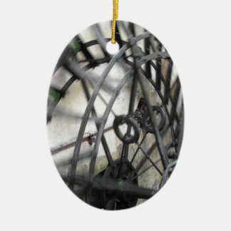Rotary motion of the water wheel in a watermill ceramic ornament