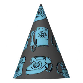 Rotary Phone - Charcoal/Soft Blue / Andrea Lauren Party Hat