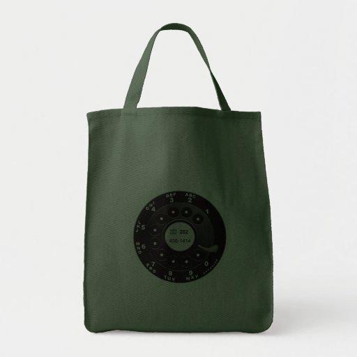 Rotary Phone Dial Bag