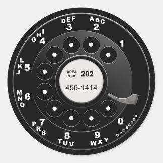 Rotary Phone Dial Classic Round Sticker