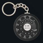 """Rotary Phone Dial Keychain<br><div class=""""desc"""">Call me,  perhaps,  on your new-fangled hi-tech cell phone,  &#39;cause I&#39;m wearing this realistic old-school rotary phone dial shirt for you,  baby,  baby,  baby. Oh yeah,  perhaps baby.</div>"""