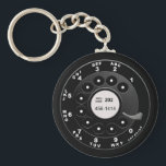 "Rotary Phone Dial Keychain<br><div class=""desc"">Call me,  perhaps,  on your new-fangled hi-tech cell phone,  &#39;cause I&#39;m wearing this realistic old-school rotary phone dial shirt for you,  baby,  baby,  baby. Oh yeah,  perhaps baby.</div>"