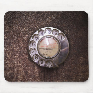 Rotary phone dial mouse pad