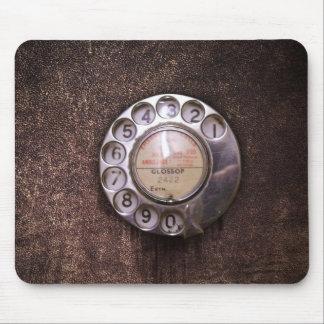 Rotary phone dial mousepad