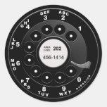 Rotary Phone Dial Round Sticker