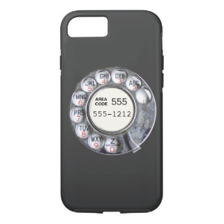 Rotary phone dial with phone number iPhone 7 case