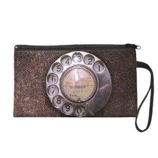 Rotary phone dial wristlet